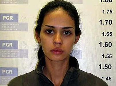 Mugshot of a former beauty queen and narco-girlfriend